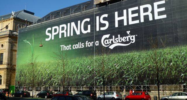 Nyt slogan That call for a Carlsberg