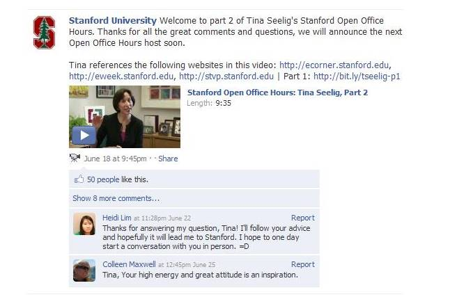 Facebook Office Hours fra Stanford University